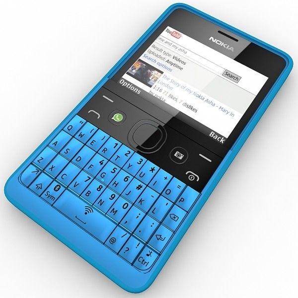 Looking cool - the Nokia Asha 210 Blue Edition! For great