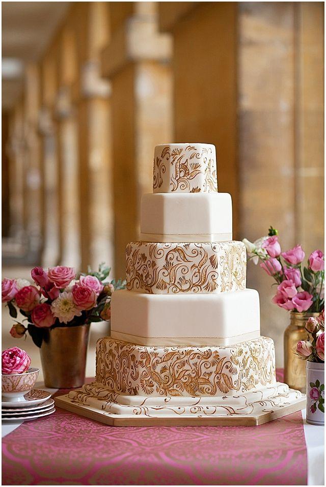Through The Eras Luxury Cake Collection Hand Painted Wedding Cake Painted Wedding Cake Gold Lace Wedding Cake