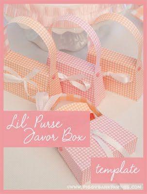 Lil' Purse Favor Box