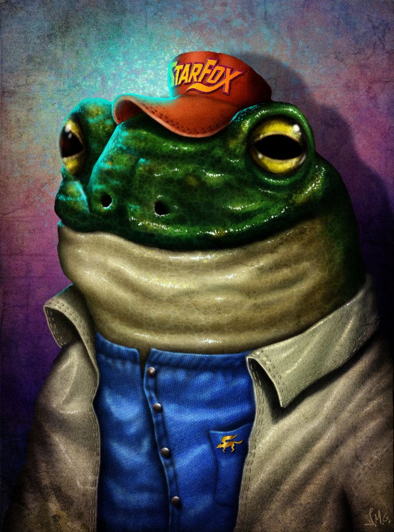 Slippy Toad Fanart Creepy And Funny At The Same Time Star Fox