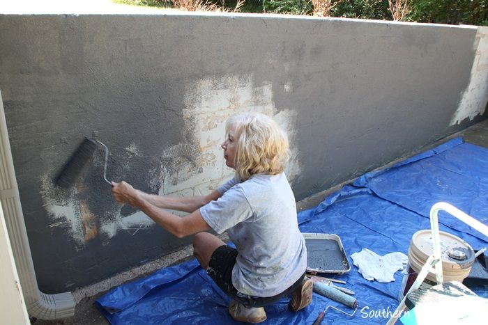 Repair And Paint A Block Wall Paint Concrete Patio Cinder Block Walls Concrete Block Walls