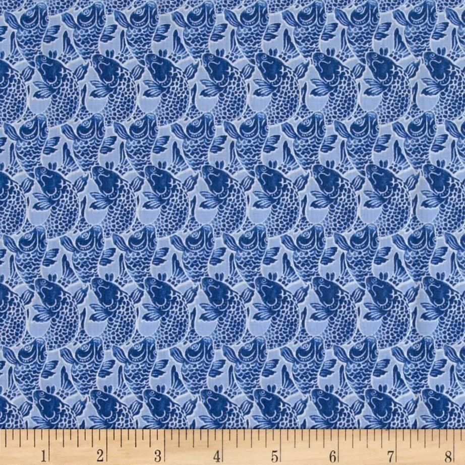 Kanvas Harmony Pisces Chambray from @fabricdotcom  Designed by Maria Kalinowski for Kanvas in association with Benartex, this cotton print fabric is perfect for quilting, apparel and home decor accents. Colors include shades of blue.