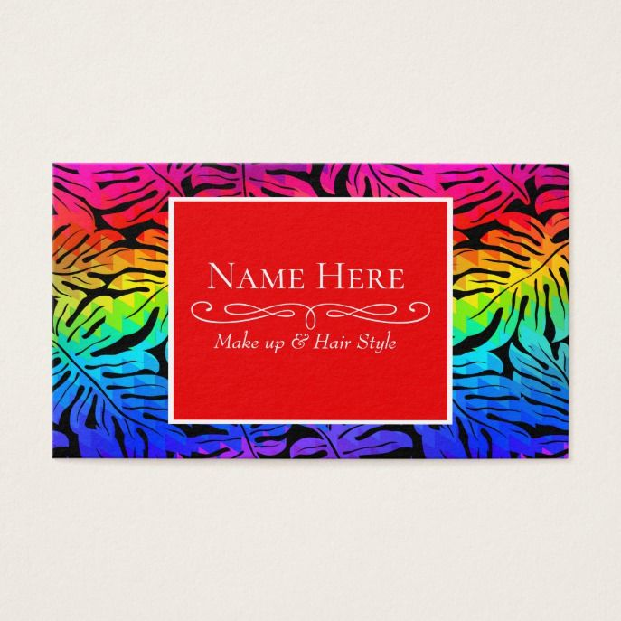 Tropical rainbow business card Business cards and Business