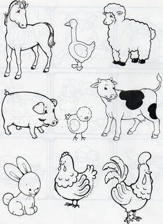 Pin De Leticiagbrito En Animales Animales De La Granja Dibujos De Animales Animales