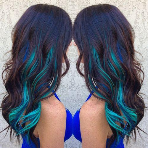 Aqua Hair Color Tumblr Images Hair Color Streaks Blue Brown Hair Hair Styles