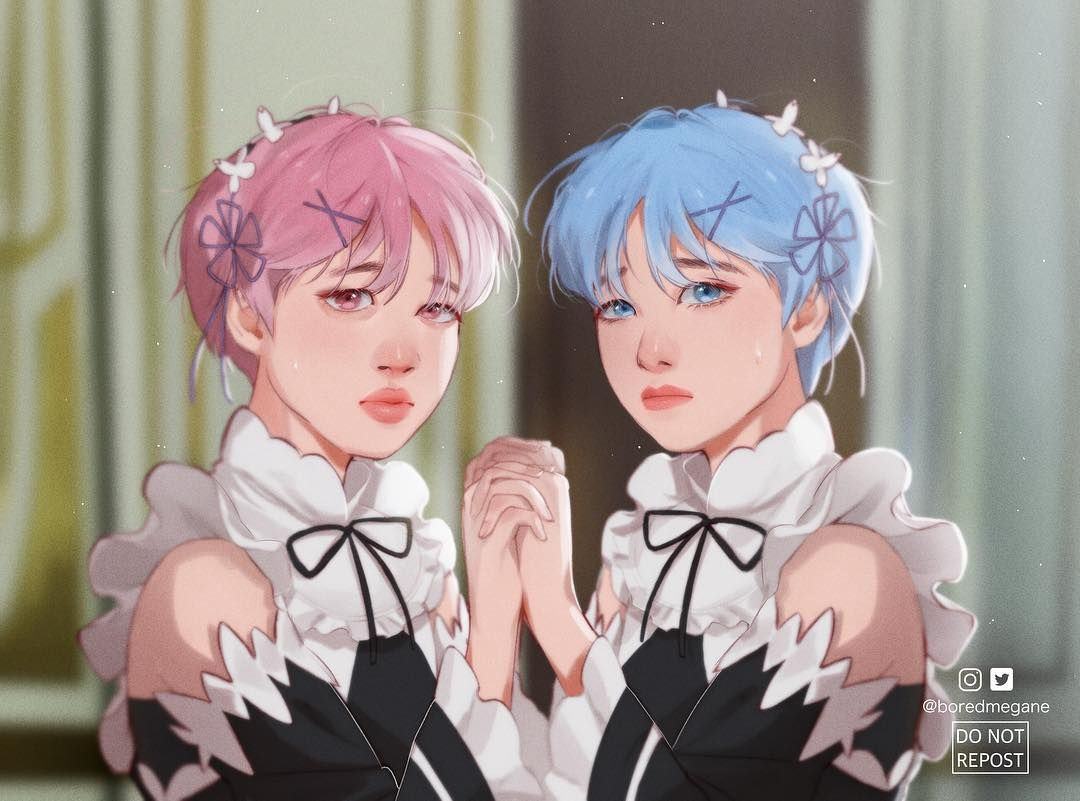Wanted to make my own version of vmin as Ram and Rem #bts #vmin ...