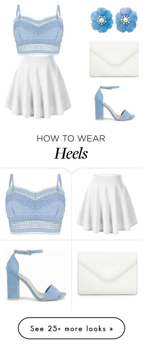 """Blue + White"" by ctpyp on Polyvore featuring Lipsy, Nly Shoes, Neiman Marcus, allaboutme, springfashion, summerfashion and contestentry"