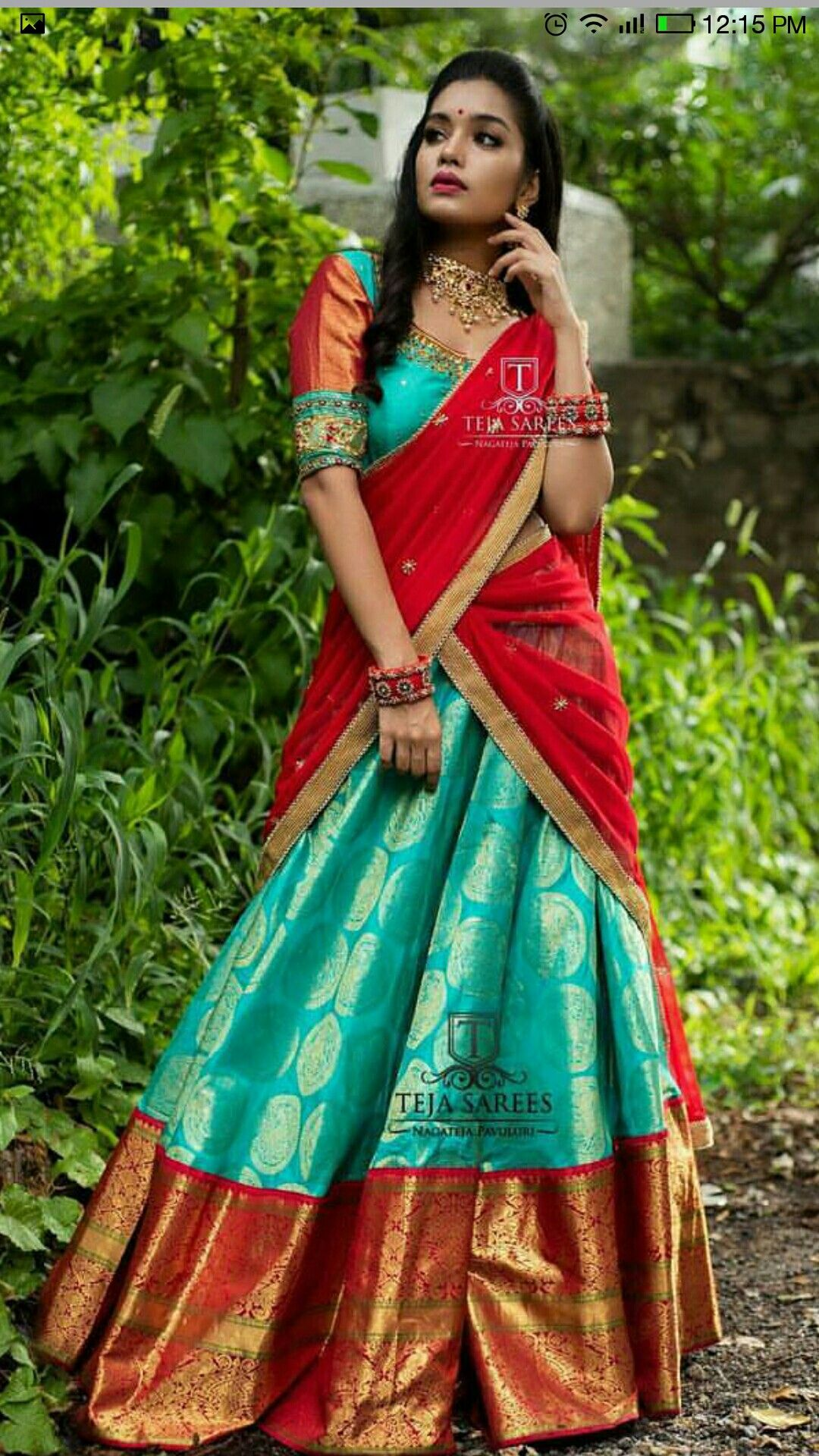 Pin By Swa Roopa On Pattu Half Sarees Half Saree Designs Half Saree Lehenga Bridal Lehenga Choli