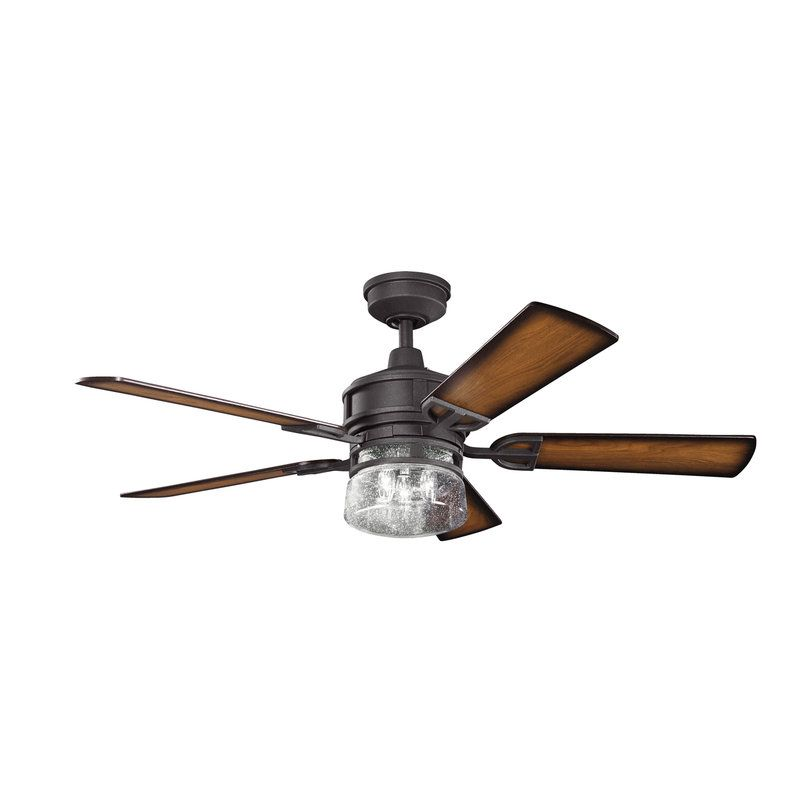 """Minka Aire 52 Gauguin Tropical 4 Blade Indoor Outdoor: View The Kichler 300120 Lyndon 52"""" Outdoor Ceiling Fan"""