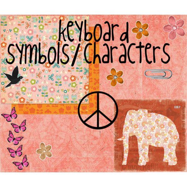 17 Keyboard Symbols Characters Pinterest Keyboard Symbols
