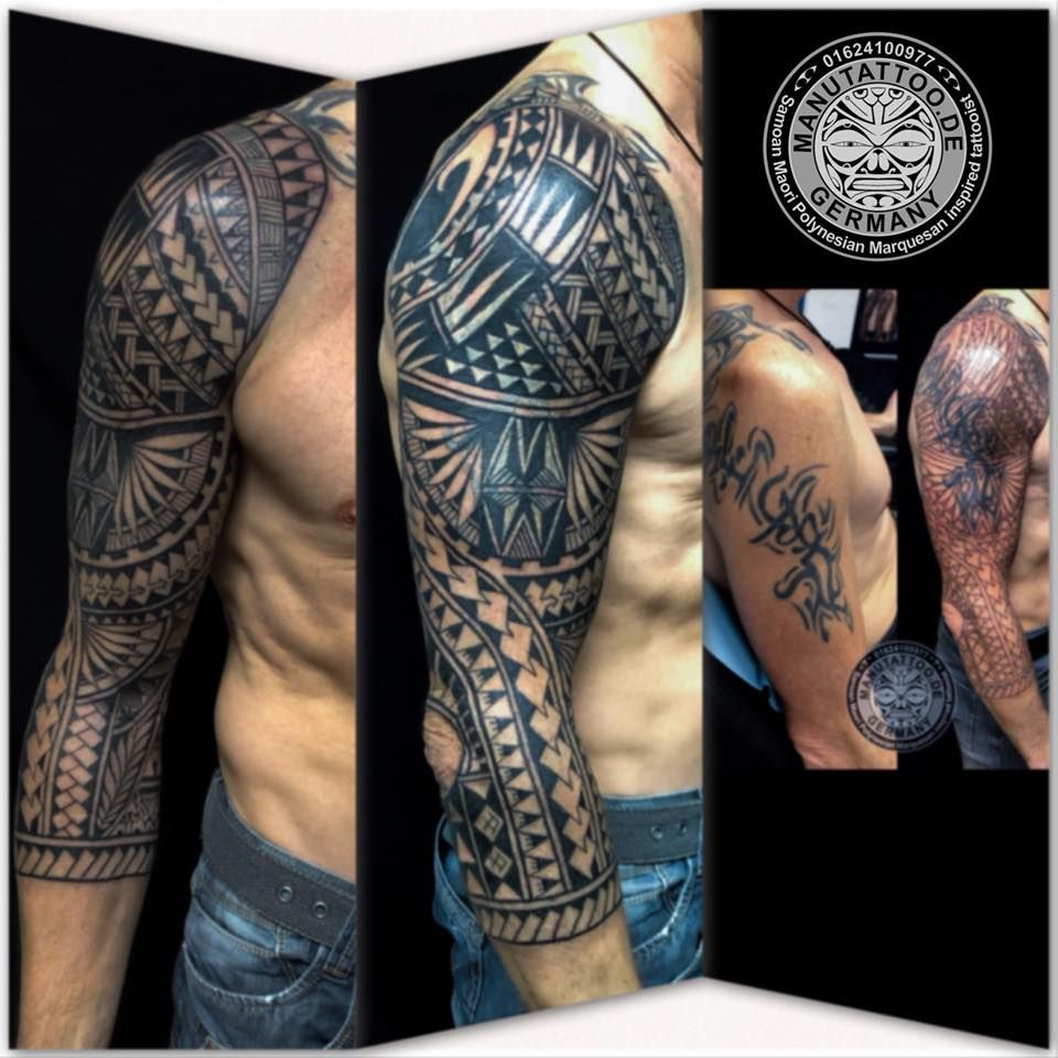 Maori Tattoo Cover Up: Freehand Cover Up, With A Polynesian Inspired Tattoo
