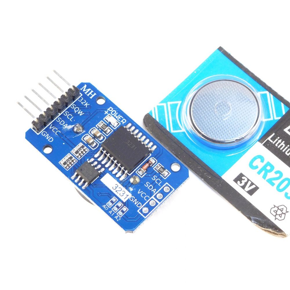 RTC Real Time Clock DS3231, 32kB Memory, I2C, Battery Backup
