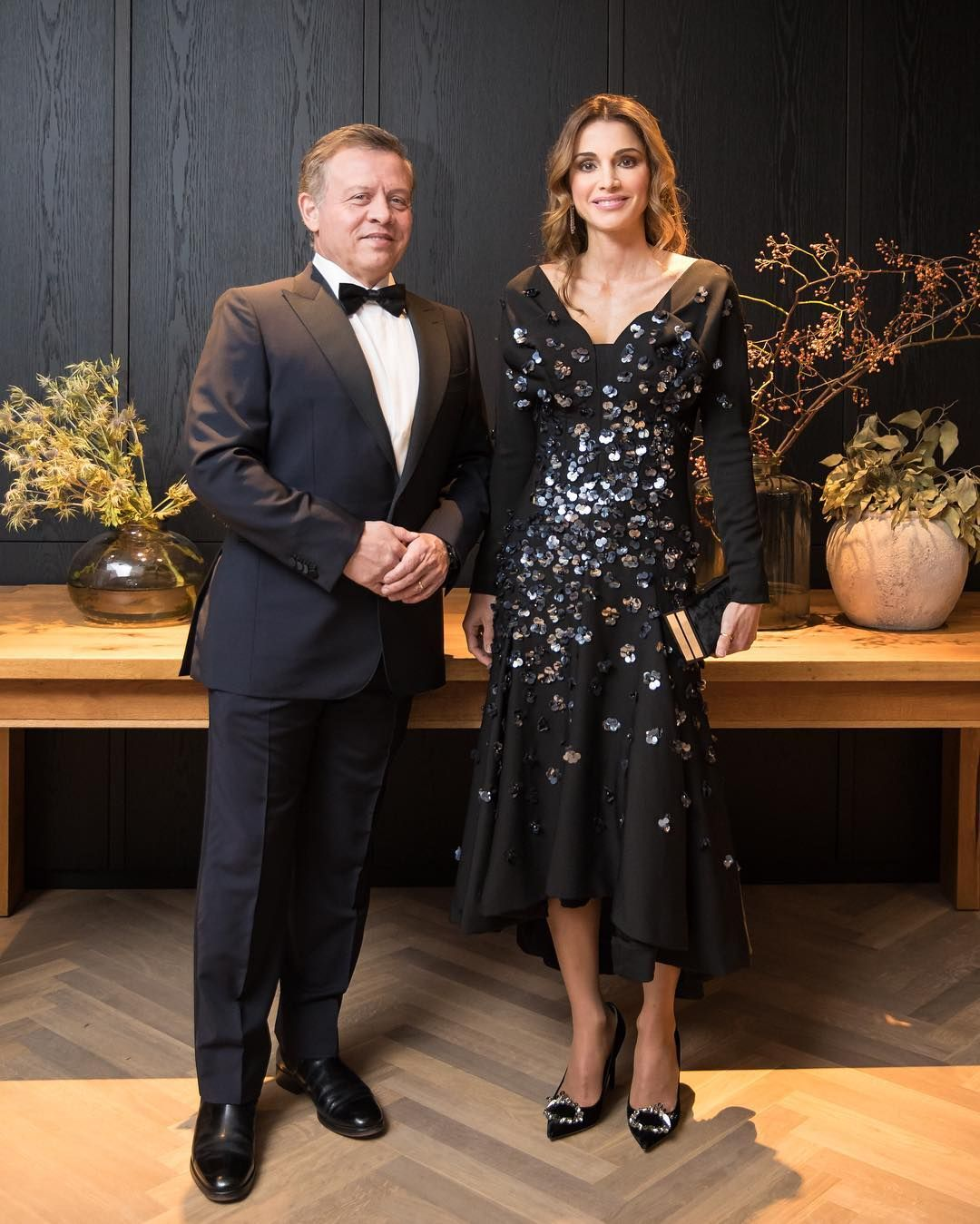 7 October 2016 - King Abdullah bin Al-Hussein receives Westphalian Peace  Prize in Münster, Germany - dress and shoes by Dior