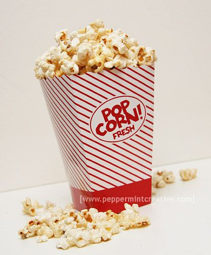 Classic Popcorn Box Peppermint Creative Idea Gallery Popcorn Box Popcorn Box Template Candy Themed Party