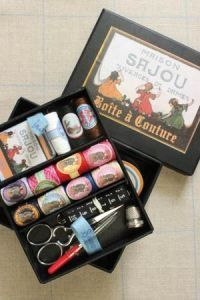 Complete sewing set Small model - Sajou black box   French Cross ... e9f84e85c32c