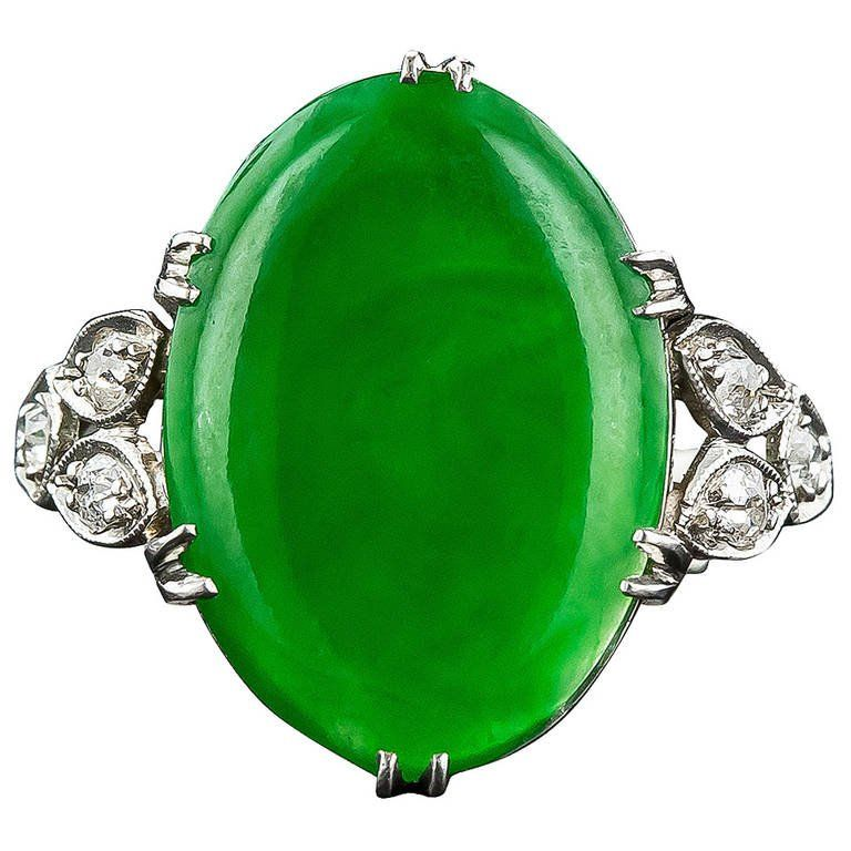 imperial products grande jadeite ring diamond jade fine jewelry exceptional gia natural estate