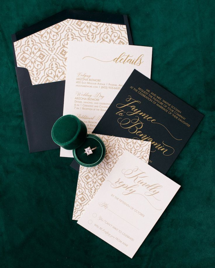 Black Tie Wedding Ideas: Elegant Emerald & Purple Black Tie Wedding Ideas