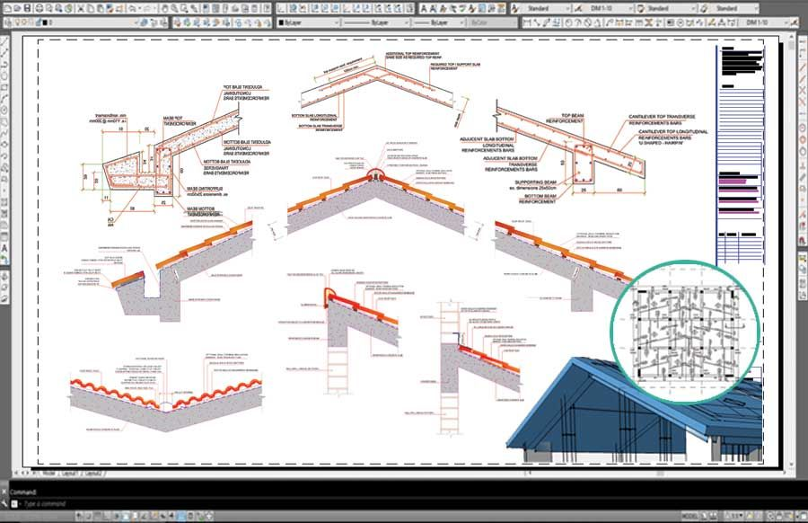 Reinforced Concrete Pitched Roof Bundled Construction