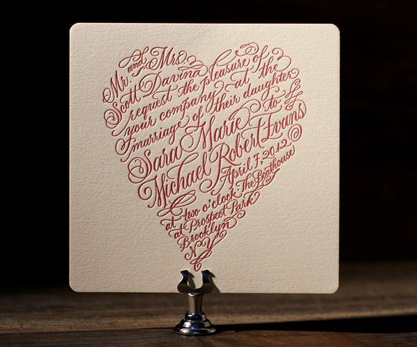 Wedding Invitation Giveaway: Letterpress Wedding Invitations