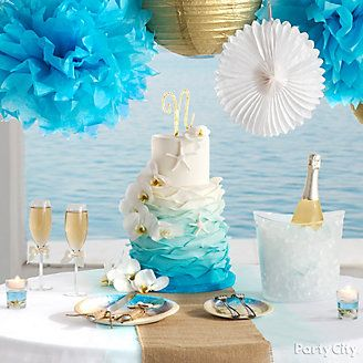 Beach Love Reception Cake Table Idea Themed Cakes