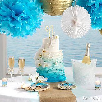 Beach Love Reception Cake Table Idea Wedding Beach Themed Cakes