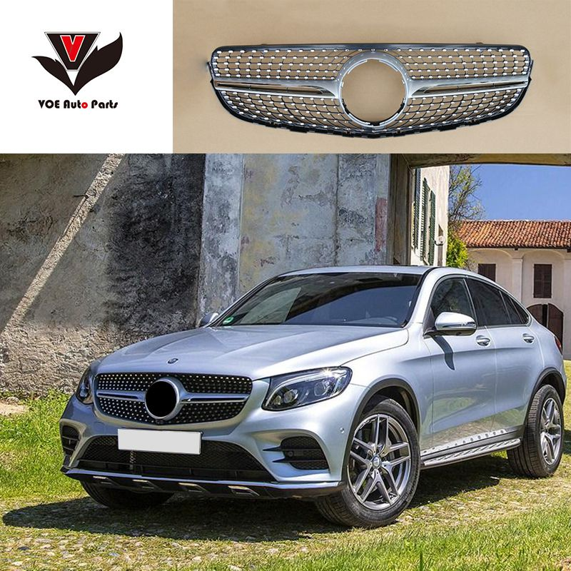 W253 Diamond Front Racing Grill Grille For Mercedes Benz Glc Class W253 X253 Glc200 Glc250 Glc300 Glc450 Sport Version Bla Mercedes Benz Glc Mercedes Benz Benz