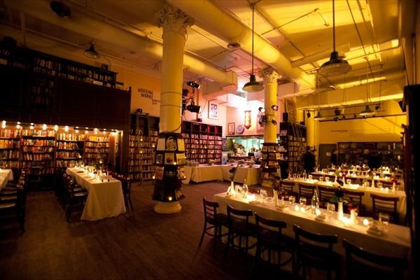 Housing Works Bookstore in Soho & The Works Catering – Manhattan – Reception and Ceremony Locations