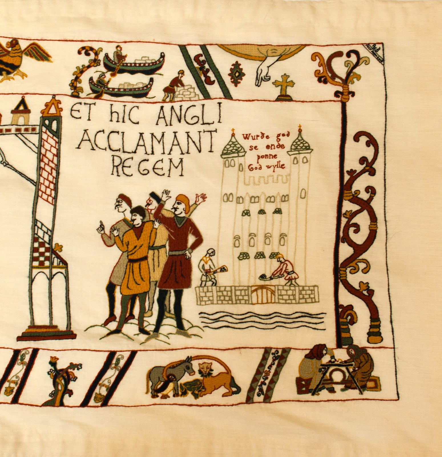 Scene 4 The Alderney Finale Of The Bayeux Tapestry Bayeux Tapestry Tapestry Crewel Embroidery Patterns