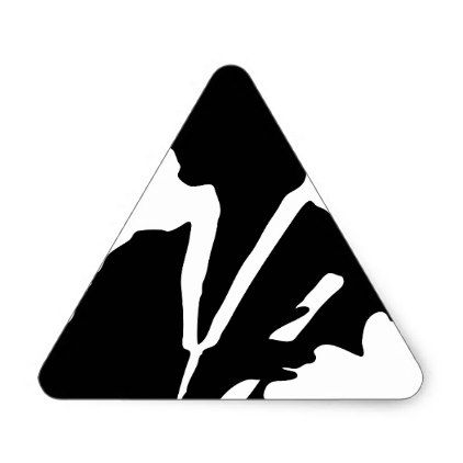 female graduate silhouette triangle sticker college stickers unique design cool sticker present gift