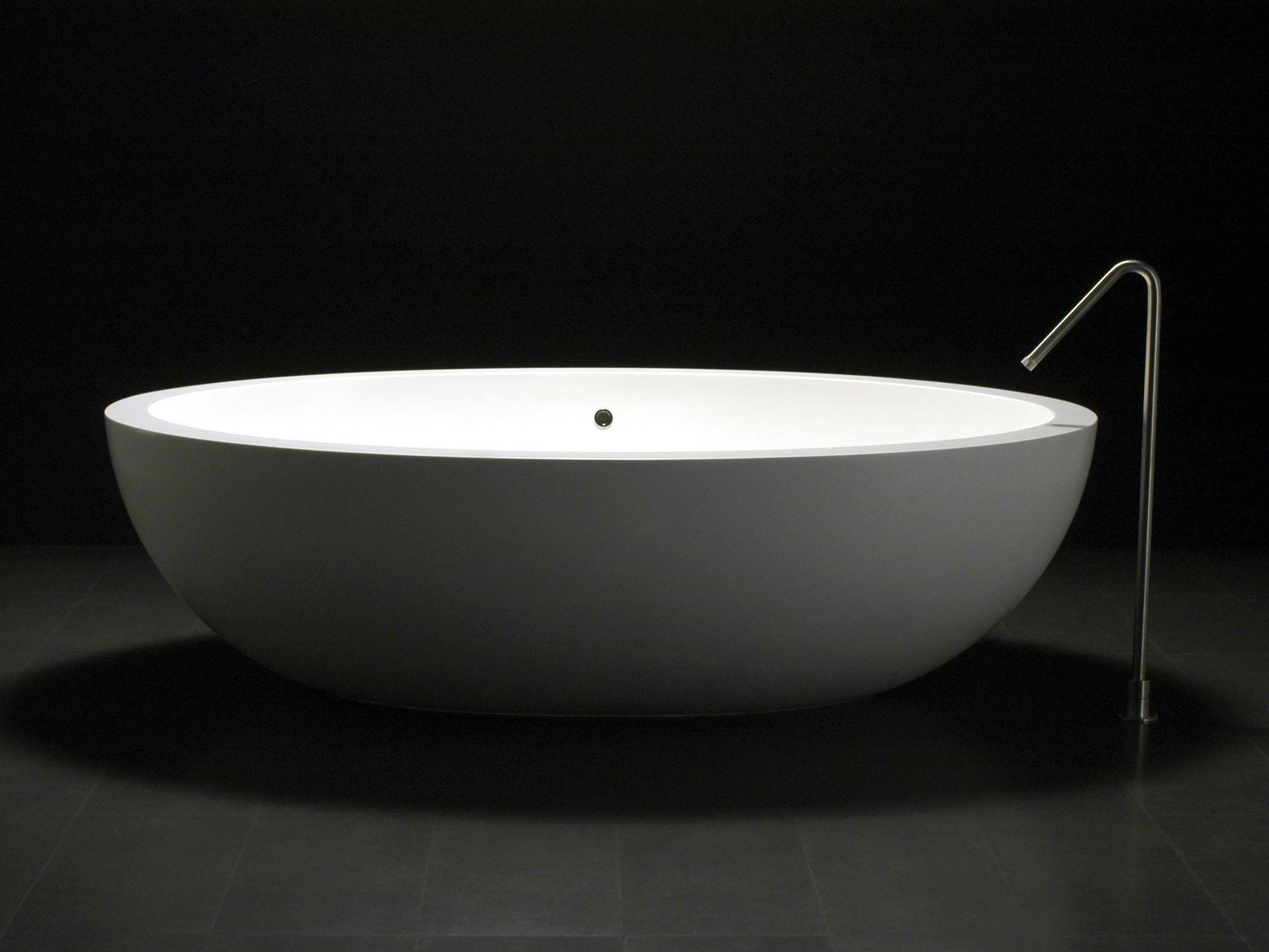 Vasca Da Bagno Freestanding Corian : Vasca da bagno in corian i fiumi collezione vasche by boffi