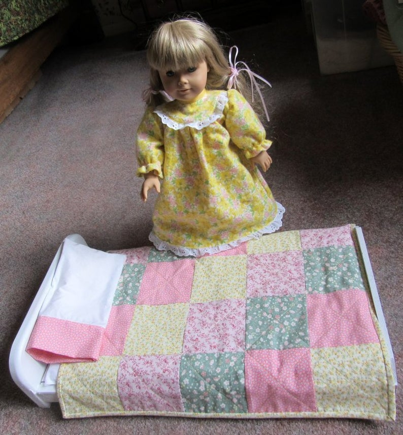 18 Handmade Patchwork Doll Quilt Plus Pillow Pillowcase | Etsy