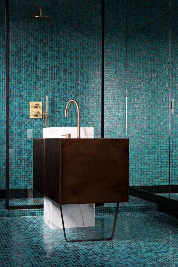 109 idées magnifiques pour votre vasque salle de bain - salle de bain en bleu