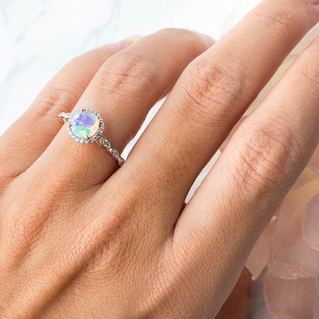26++ Opal wedding band rose gold info