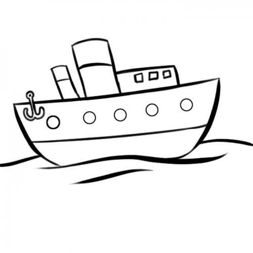 Desenho de barco de pesca para colorir | ship | Pinterest