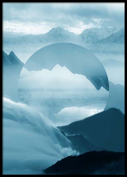 Reflected mountain Poster in der Gruppe Poster / Graphic Art-Poster bei Desenio AB (2038)