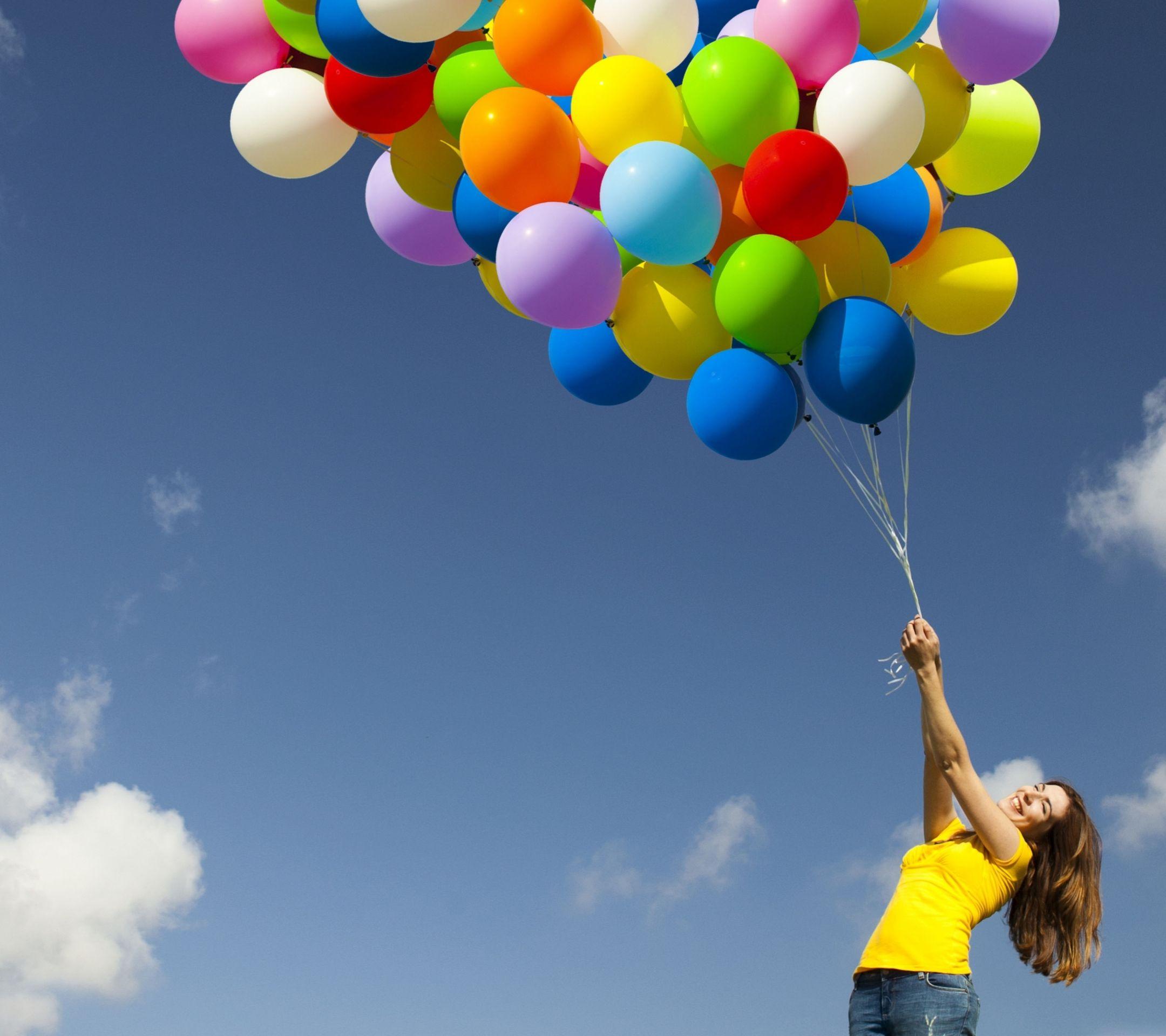 Happy Girl Wallpaper Balloons Joy Quotes Happy Images