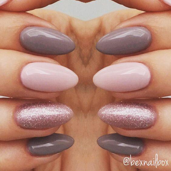 "10 Likes, 2 Comments - Rebecca (@bexnailbox) on Instagram: ""Gel Nails... Polish - Bluesky Polishes 63921 QXG210 'Lace' 63903 'Fairy Dust' #nails #gelnails"