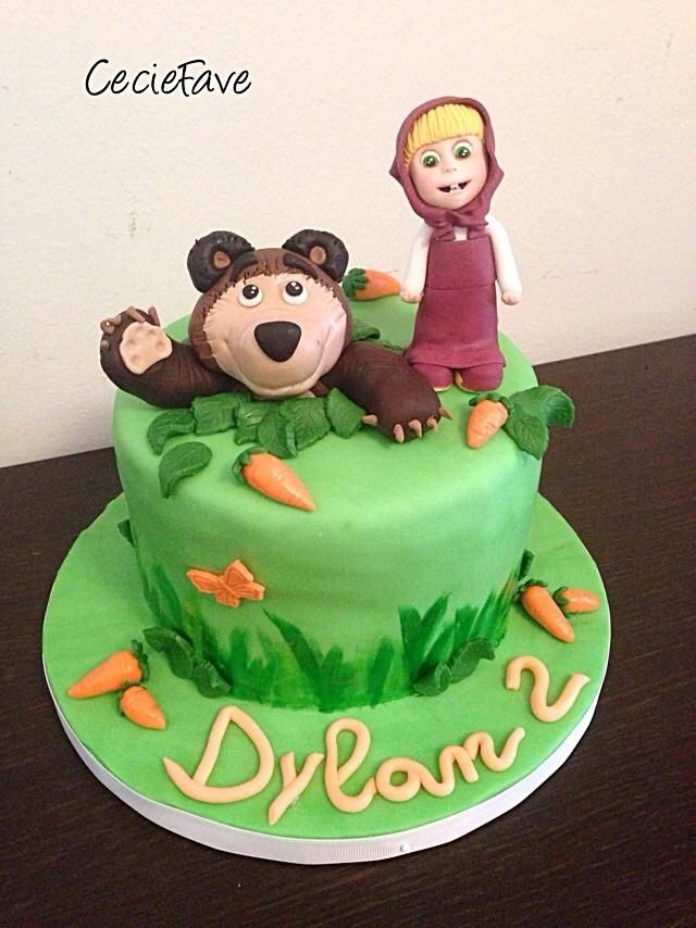 Masha and the Bear Cake by CecieFave by Cecilia Favero Masha and