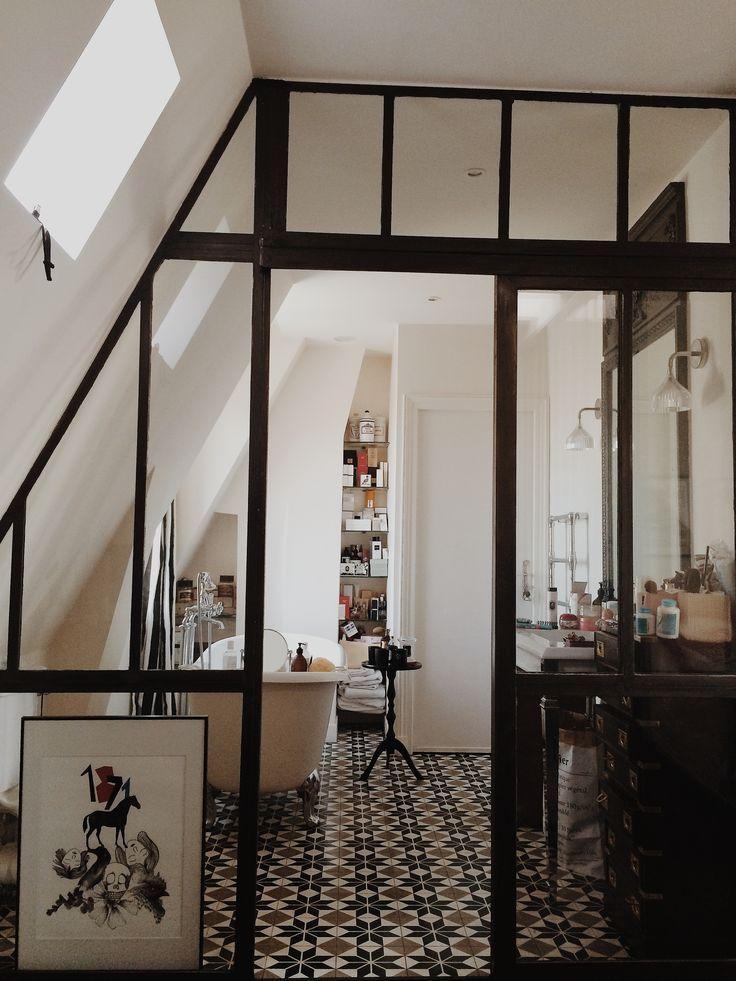 sparation de pice faon vitre datelier - Idee De Separation Salle De Bain