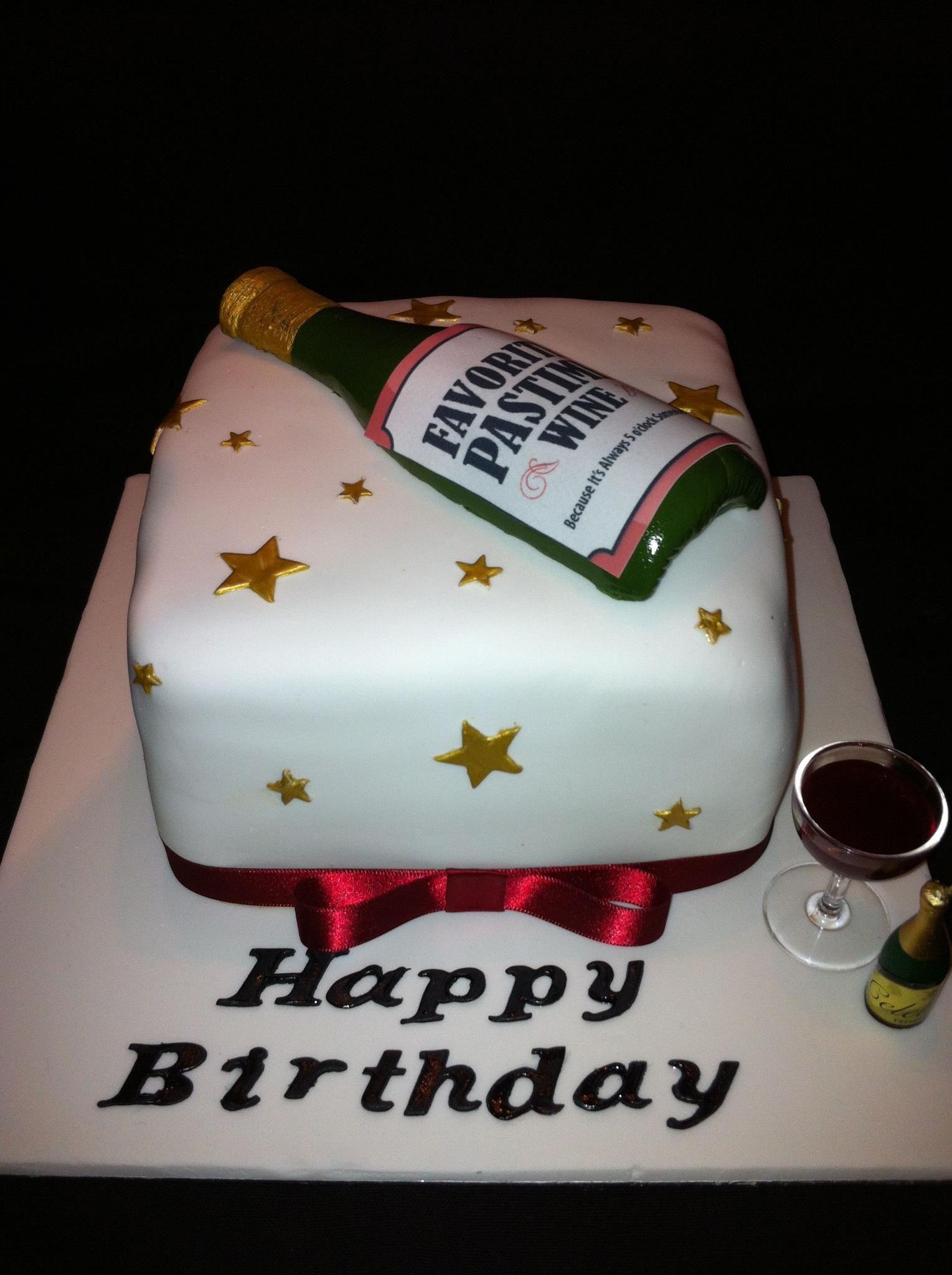 Red Wine Lover S Birthday Cake