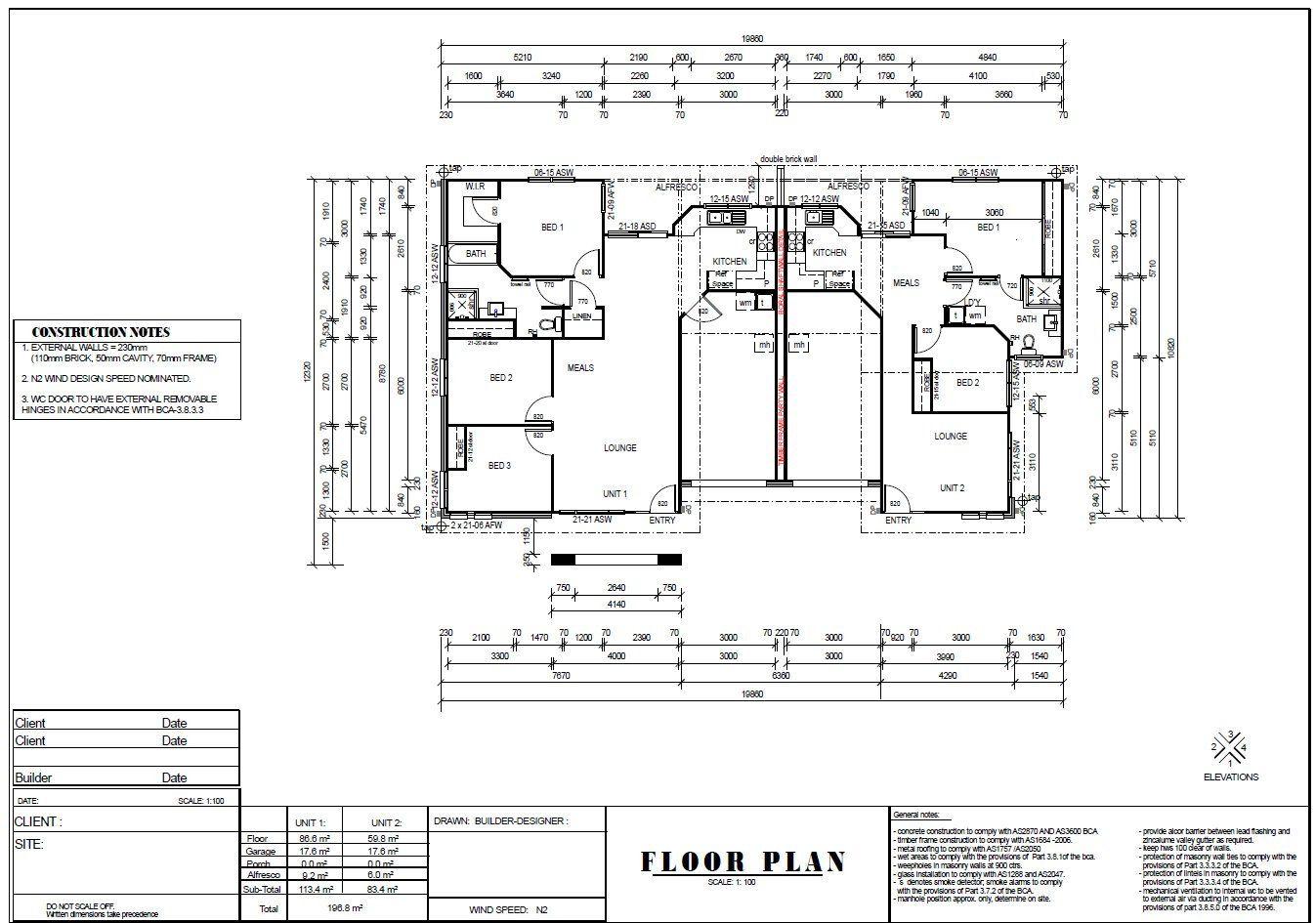House Plans 2115 Sq Ft 196 M2 5 Bedrooms Duplex Design Etsy Duplex Design House Plans House Plans For Sale