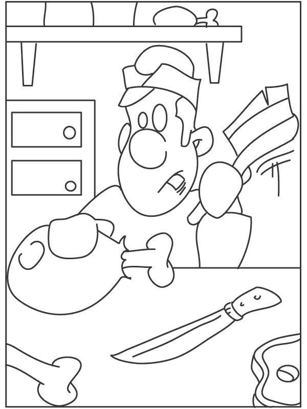 kleuterdigitaal kp slager kleurplaten kleurplaten