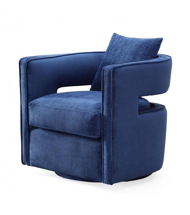 Best Stylish Blue Velvet Swivel Chair Swivel Barrel Chair 640 x 480