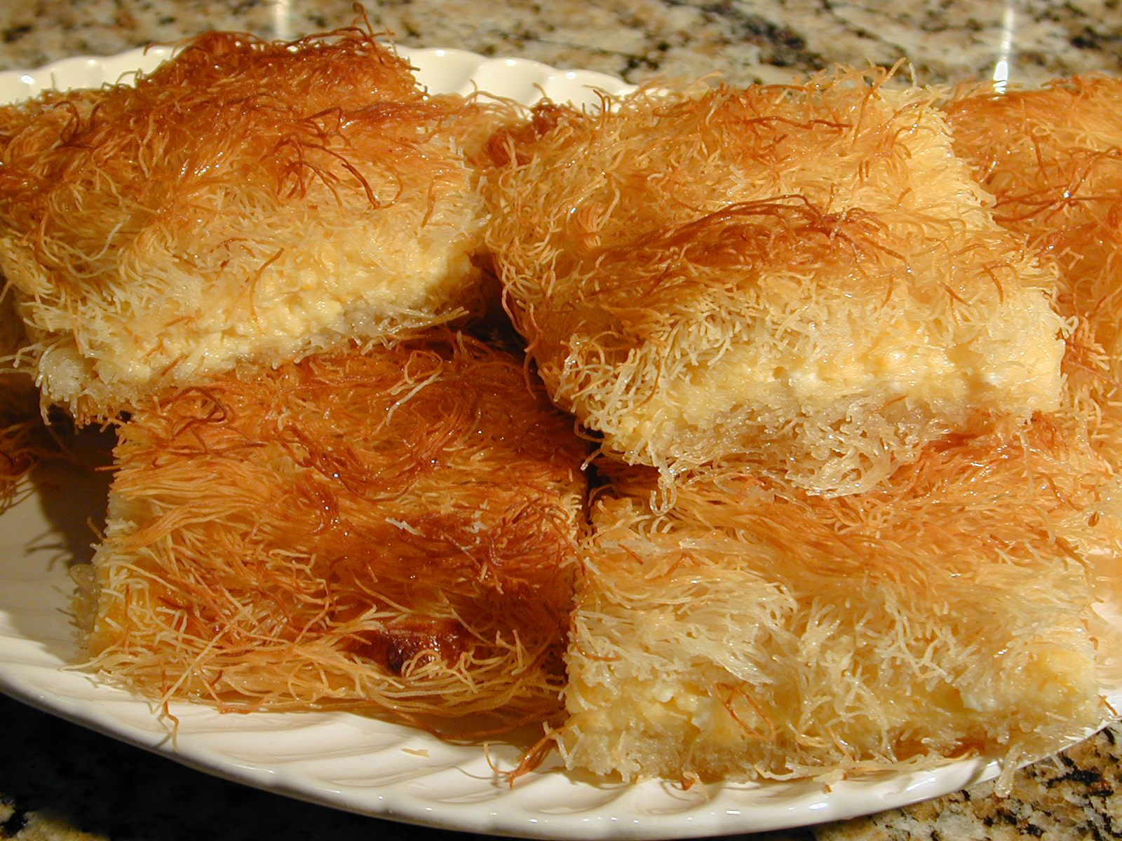 Desserts kadayif shredded phyllo pastry armenian for Armenian cuisine cookbook
