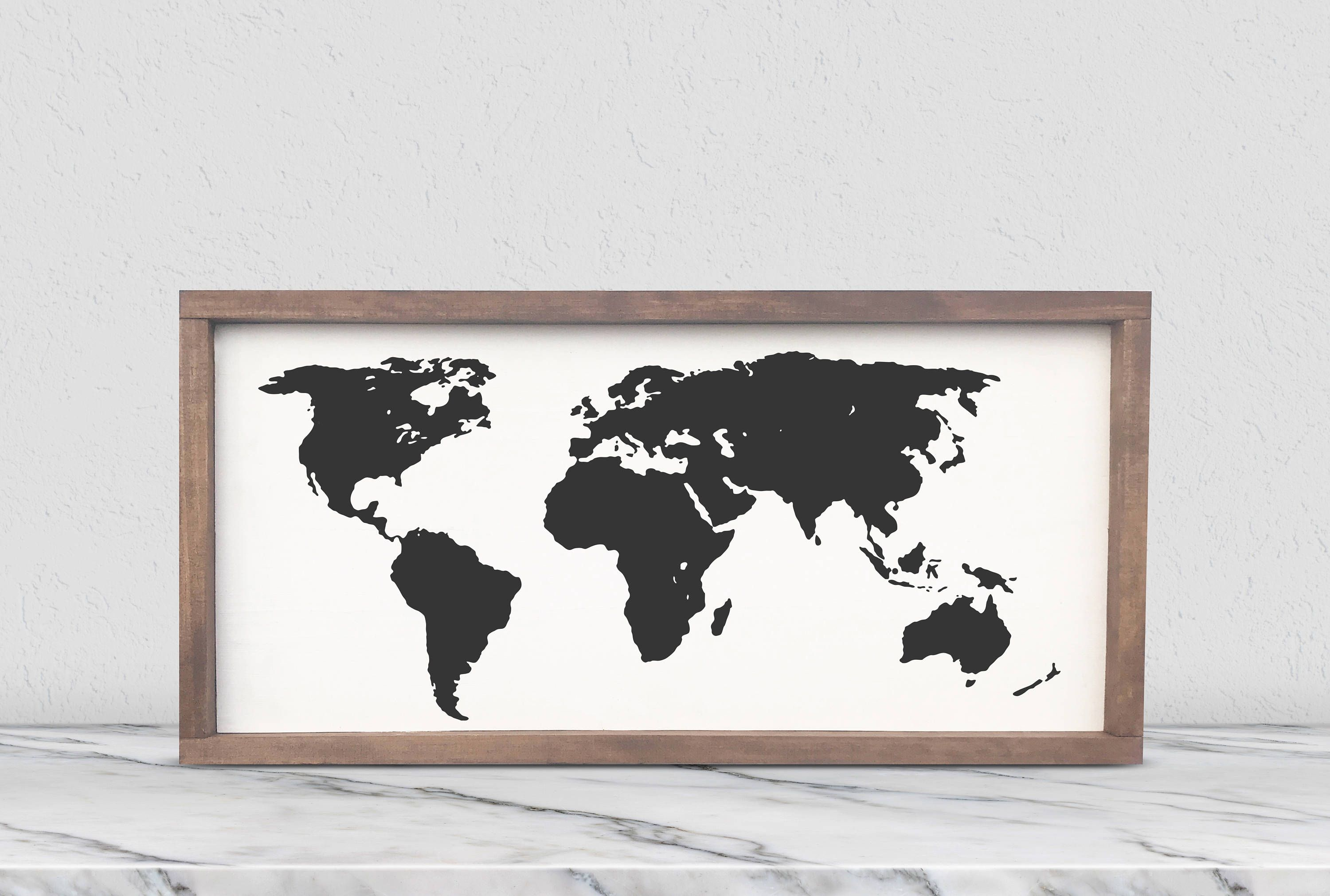 New items in my etsy shop world map framed wooden sign living new items in my etsy shop world map framed wooden sign living decor gumiabroncs Image collections