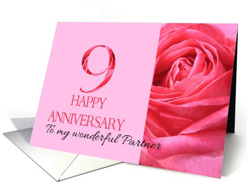 9th Wedding Anniversary Gifts For Husband: 9th Anniversary To My Partner