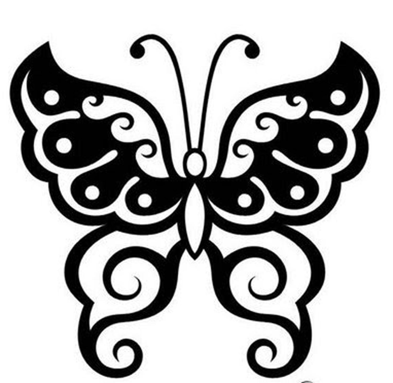 kelebek desen çizimleri modalant pinterest tribal butterfly