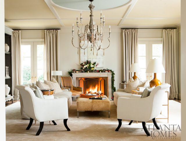 Christmas With Suzanne Kasler The Glam Pad Family Living Rooms Home Decor Luxury Living Room #suzanne #kasler #living #room