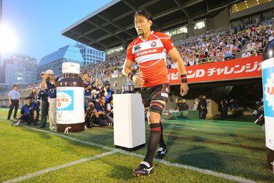 日本代表対サモア代表戦。日本代表歴代最多キャップとなる82試合目の大野均選手。