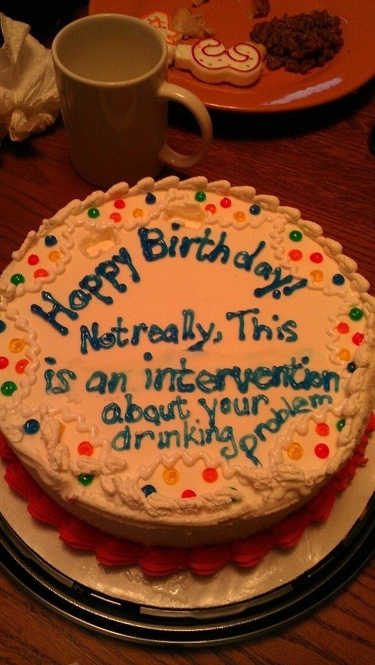 Funny sayings on a birthday cake
